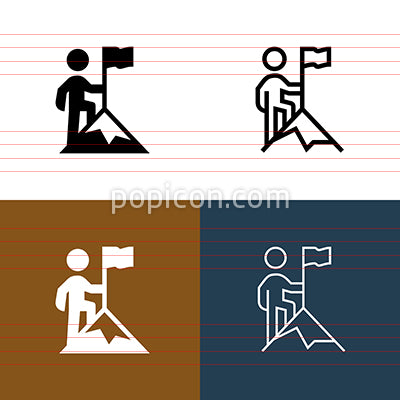 Mountaintop Icon Set