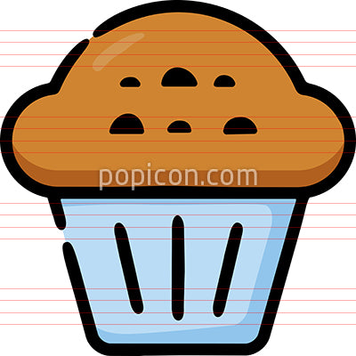 Muffin Cupcake Hand Drawn Icon