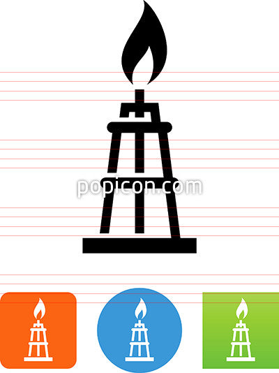 Natural Gas Tower Icon Popicon