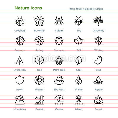 Nature Icons - Outline