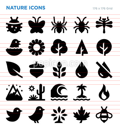 Nature Vector Icon Set
