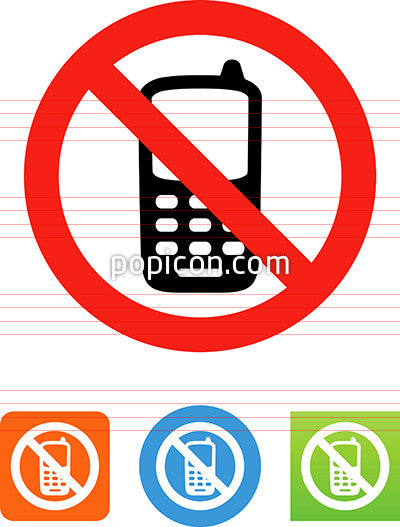 No Cell Phones Icon