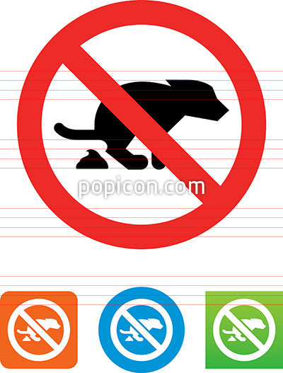 No Dog Pooping Allowed Icon