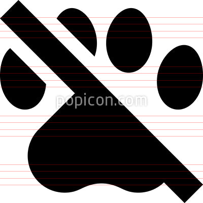 No Pets Vector Icon