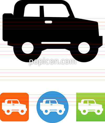 Off Road Vehicle Side View Icon