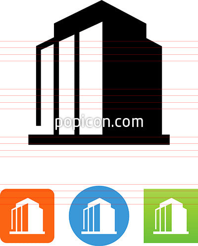 Office Building Icon Popicon