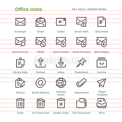 Office Icons - Outline