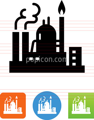 Oil And Gas Refinery Icon