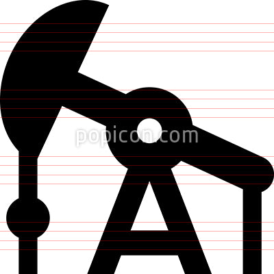 Oil Well Pumpjack Icon