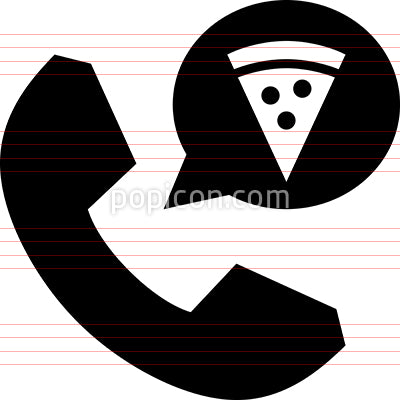 Order Pizza Vector Icon