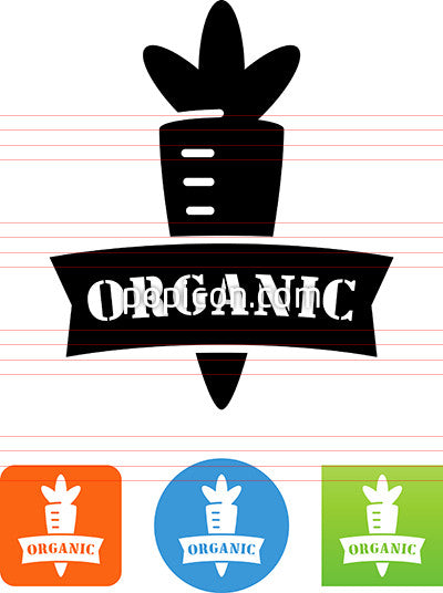 Organic Vegetable Icon