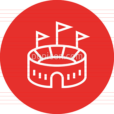 Outdoor Stadium Arena Outline Icon
