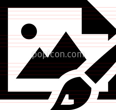 Paint Brush Canvas Vector Icon