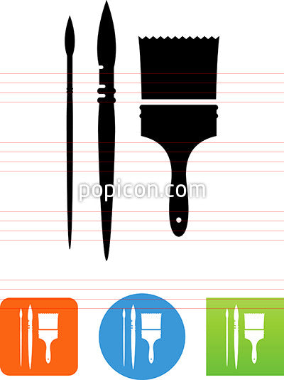 Paint Brushes Icon