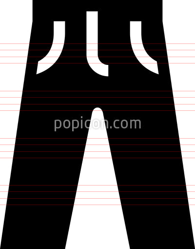 Pants Clothing Vector Icon