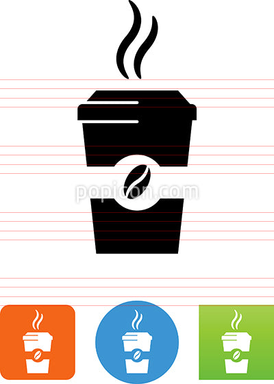 Paper Cup Of Coffee Icon