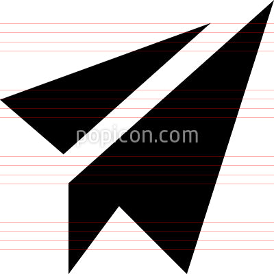 Paper Plane Send Email Vector Icon