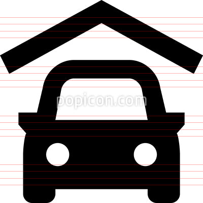 Parking Garage Vector Icon