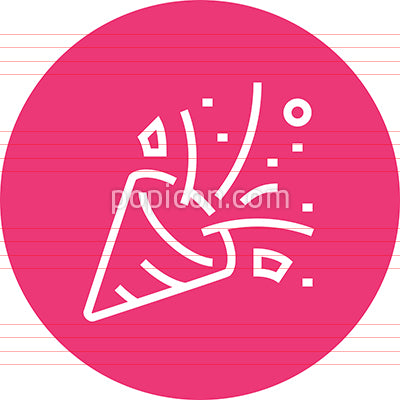 Party Popper Confetti Outline Icon