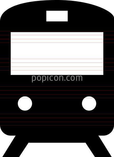 Passenger Train Vector Icon