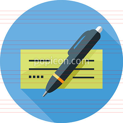 Pen and check icon