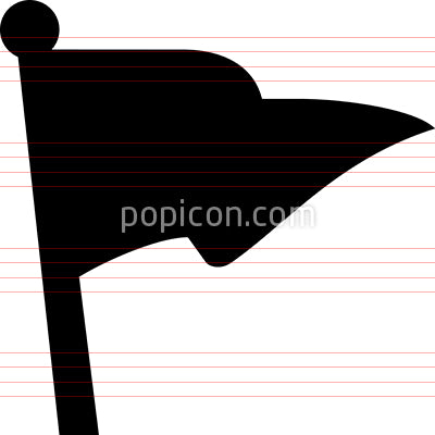 Pennant Flag Vector Icon