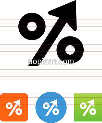 Percentage Up Icon