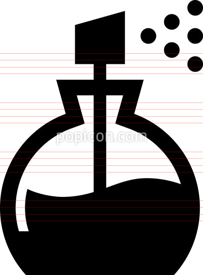 Perfume Bottle Vector Icon
