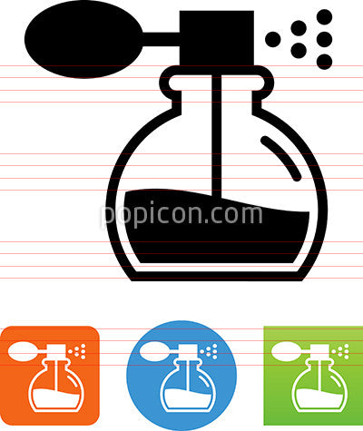 Perfume Bottle With Atomizer Icon