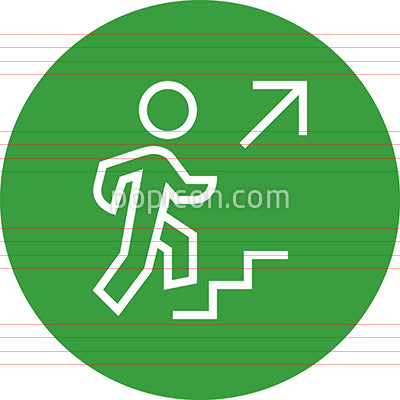 Person Climbing Stairs Outline Icon