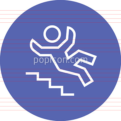 Person Falling Down Stairs Outline Icon