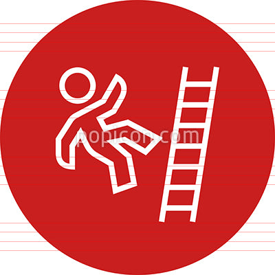 Person Falling Off A Ladder Outline Icon