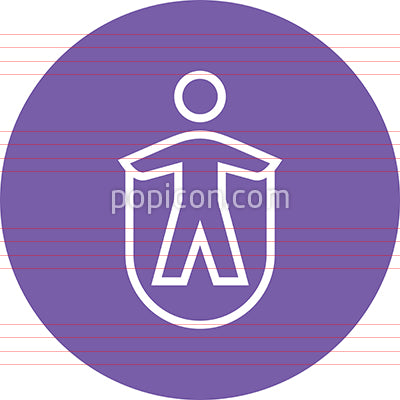 Person Jumping Rope Outline Icon