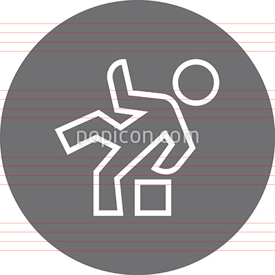 Person Tripping Over A Box Outline Icon