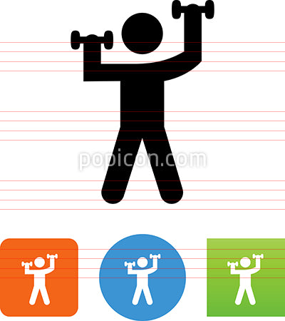 Person Working Out With Dumbbells Icon