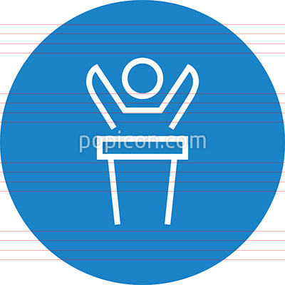 Person At Podium Outline Icon