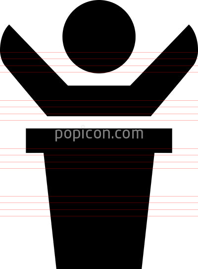 Person At Podium Vector Icon