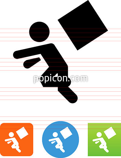 Person Being Hit By A Falling Object Icon