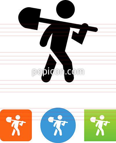 Person Carrying A Shovel Icon