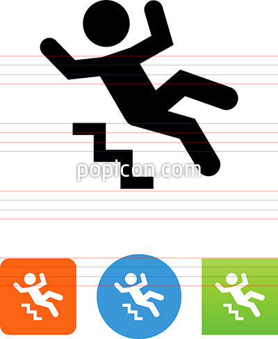 Person Falling Down Stairs Icon