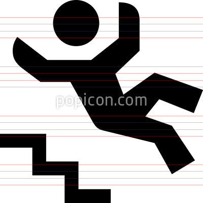 Person Falling Down Steps Vector Icon