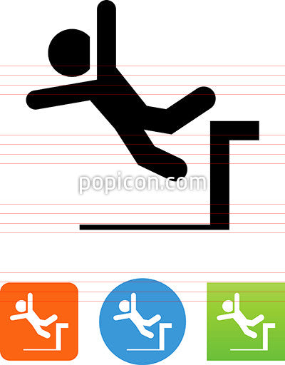 Person Falling Off A Loading Dock Icon