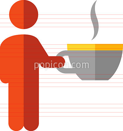 Person Holding A Coffee Cup Icon