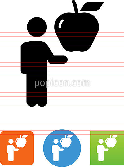 Person Holding Apple Icon
