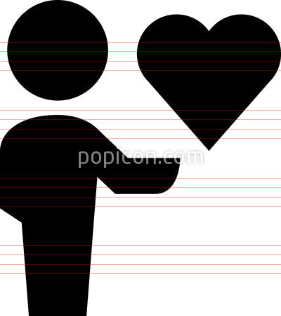 Person Holding Heart Vector Icon