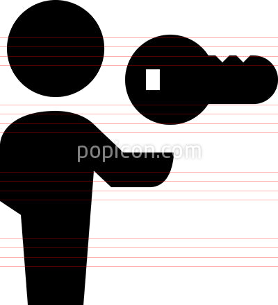 Person Holding Key Vector Icon