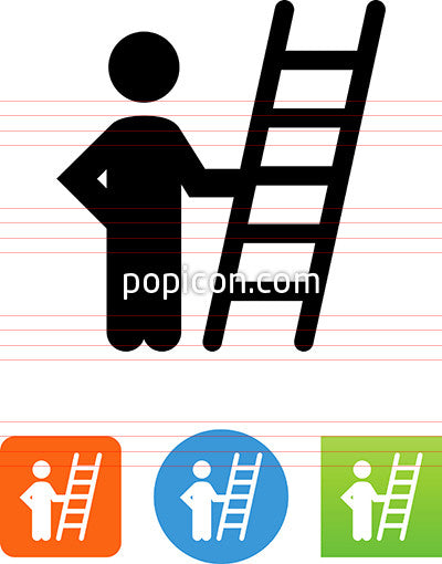 Person Holding Ladder Icon