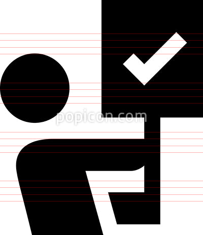 Person Holding Picket Sign Vector Icon