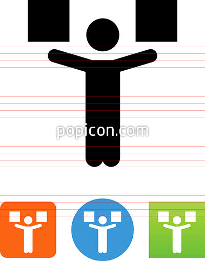 Person Holding Up Boxes Icon