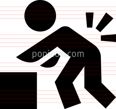 Person Lifting Heavy Object Vector Icon